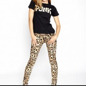 Tripp NYC Leopard T-Back leopard animal skinny 9